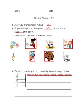 Physical Changes Quiz