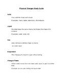 Physical Changes Vocabulary/ Study Guide