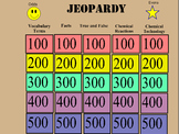 Physical Changes and Chemical Reactions Jeopardy Review Game