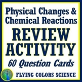 Physical Changes and Chemical Reactions Review Activity NG