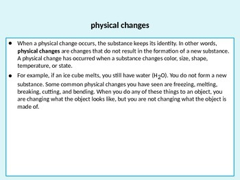 Physical Changes in Matter(SC.5.P.9.1)