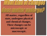 Physical Changes of Matter