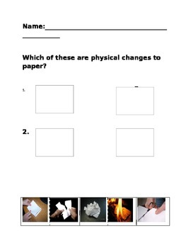 Physical Changes to paper