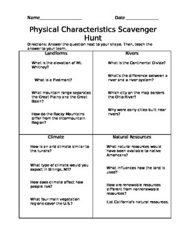 Physical Characterisitics