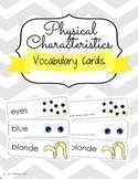 Physical Characteristics Social Emotional Vocabulary Cards