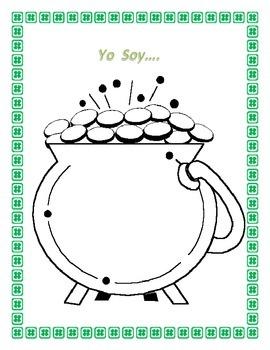 "Physical Characteristics in Spanish"" Yo soy""- Mi Retrato- St. Patricks' Theme"