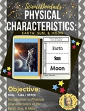 Physical Characteristics of Earth, Moon and Sun - Foldable