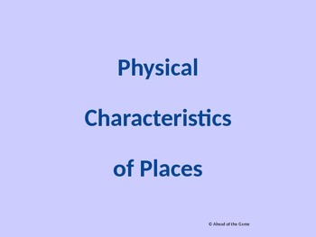Physical Characteristics of Places powerpoint