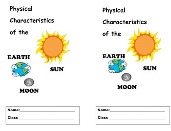 Physical Characteristics of the Sun, Earth and Moon Flipbook