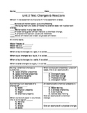 Physical & Chemical Change Assessment