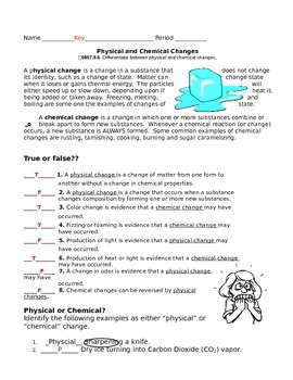 Physical & Chemical Changes