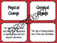 Physical & Chemical Changes Card Sort