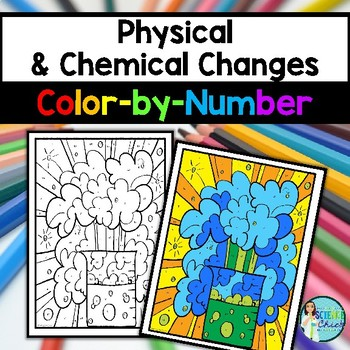 physical chemical changes color by number by science chick tpt. Black Bedroom Furniture Sets. Home Design Ideas