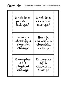Physical & Chemical Changes Foldable