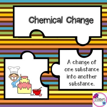 Physical & Chemical Changes Jigsaw Puzzles Great for Review