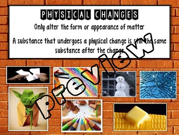 Physical & Chemical Changes PowerPoint