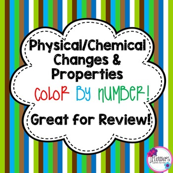 Physical & Chemical Changes Color by Number by JFlowers   TpT