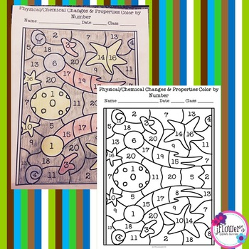 Physical & Chemical Changes Color by Number by JFlowers | TpT
