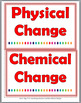 Physical and Chemical Changes Sort, Posters, Interactive Flap Books & Printables