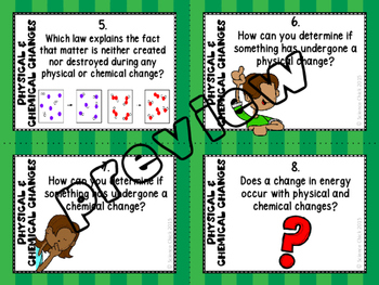 Physical & Chemical Changes Task Cards - with or without QR codes