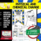Physical & Chemical Changes Activity Bookmark Writing & Google Link