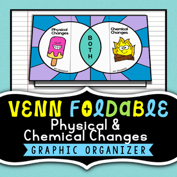 Physical & Chemical Changes - Venn Diagram Foldable - Grea