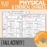 Physical & Chemical Changes in Thanksgiving/ Fall Treat Recipes