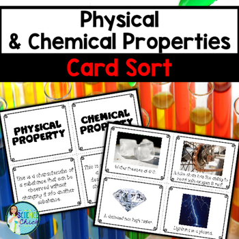 Physical chemical properties card sort by science chick tpt urtaz Images