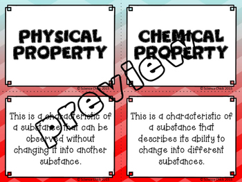 Physical & Chemical Properties Card Sort