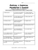 Physical & Chemical Properties & Change - Practice Sheet