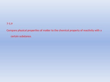 Physical/Chemical Properties Notes