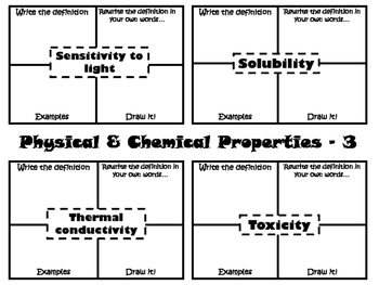 Physical & Chemical Properties Vocabulary