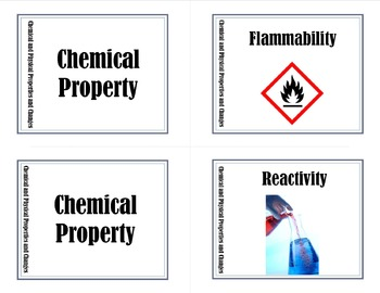 Physical Chemical Properties and Changes Memory Game