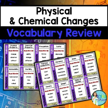 Physical & Chemical Properties and Changes Vocabulary Review Game