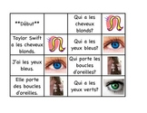 "Physical Descriptions - ""J'ai, qui a""  French Race Cards (FSL)"