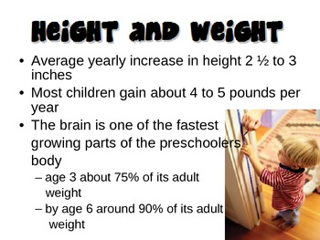 Physical Development from Ages 4-6 Powerpoint for Child Development