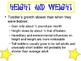 Physical Development from ages 1-3 Powerpoint for Child Development