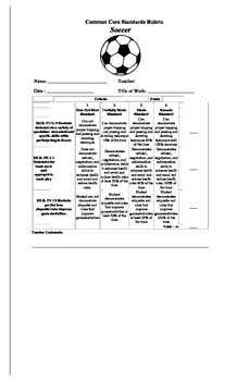 Physical Ed. Core Standards -Soccer unit