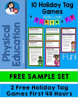 Physical Education: 10 Holiday Tag Games   SAMPLE SET FREE