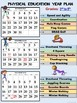 """Physical Education (2018/2019) """"Year at a Glance""""- Editable Plan"""