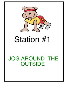 Physical Education:  24 Fitness Stations