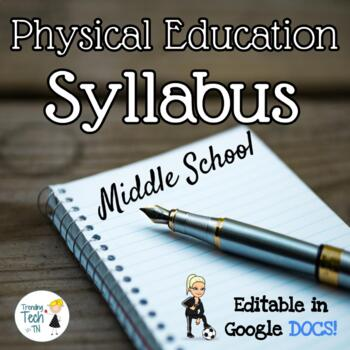 Physical Education Middle School Syllabus - Fully Editable