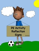 Physical Education Activity Reflection Signs