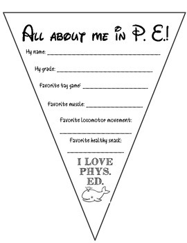 Physical Education All About Me Pennant Banner