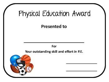 Physical Education Award