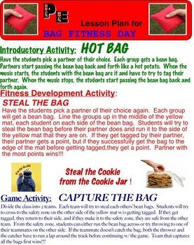 Physical Education:  Bean Bag Fitness