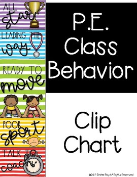 Physical Education Behavior Clip Chart