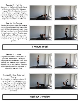 Physical Education Bodyweight Multi-Day Fitness Circuit (30 different exercises)