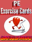 Physical Education Cardiovascular Endurance Exercise Cards