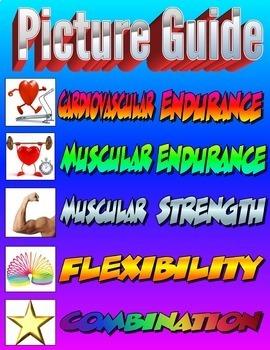 Physical Education Exercise Cards Bundled